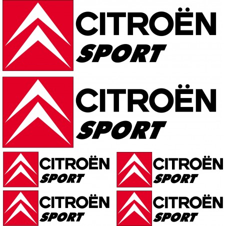 Stickers autocollants logo Citroen sport Noir