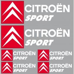 Stickers autocollants logo Citroen sport blanc