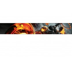Stickers autocollant pare soleil Ghost Rider