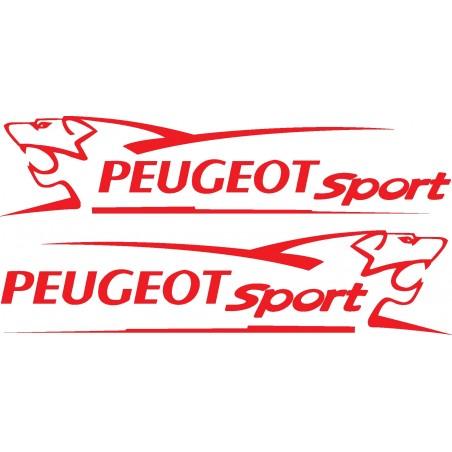 2 Stickers autocollants Kit déco Peugeot sport Lion