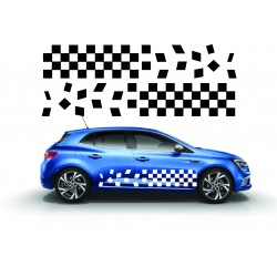 Stickers autocollants bas de caisse Renault damier