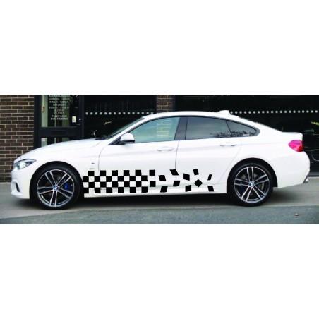 Stickers autocollants bas de caisse BMW damier