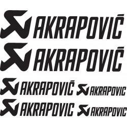 Stickers autocollants planche Akrapovic