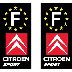 2 Stickers autocollant plaque d immatriculation Citroen sport