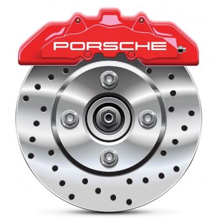 4 Stickers autocollants étrier de frein Porsche