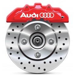 4 Stickers autocollants étrier de frein Audi