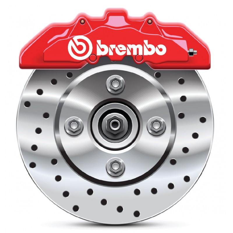 4 Stickers autocollants étrier de frein Brembo