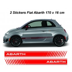 Stickers autocollants bas de caisse Fiat Abarth