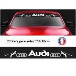 Stickers autocollant pare soleil Audi gerko