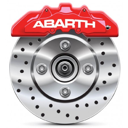 4 Stickers autocollants étrier de frein Abarth