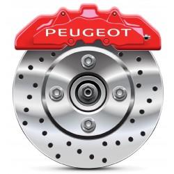 Stickers autocollants étrier de frein Peugeot