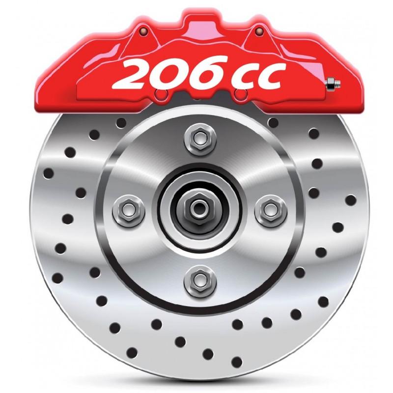 Stickers autocollants étrier de frein Peugeot 206 CC
