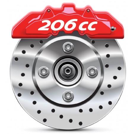 4 Stickers autocollants étrier de frein Peugeot 206 CC