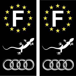 Stickers autocollant plaque d immatriculation Audi Gecko