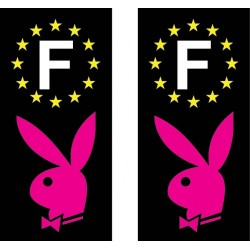 2 Stickers autocollant plaque d immatriculation Playboy