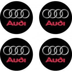 Stickers autocollant moyeu de jante Audi
