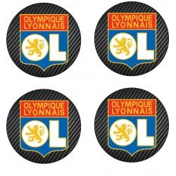 Stickers autocollant pour moyeu de jante OL Olympique Lyonnais