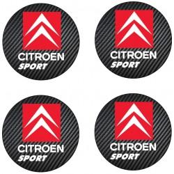 Stickers autocollant moyeu de jante Citroen Sport