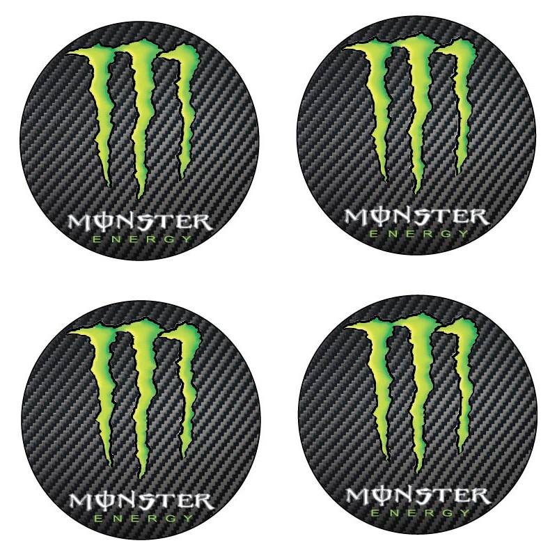 Stickers autocollant moyeu de jante Monster