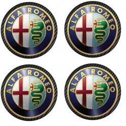 Stickers autocollant moyeu de jante Alfa Romeo