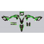 Stickers kit deco moto MX Kawasaki